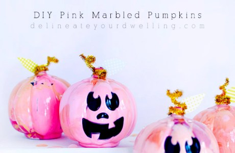 Teen Craft – Marbled Pumpkins