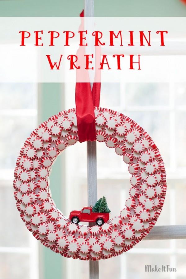 Peppermint Candy Wreath Tutorial