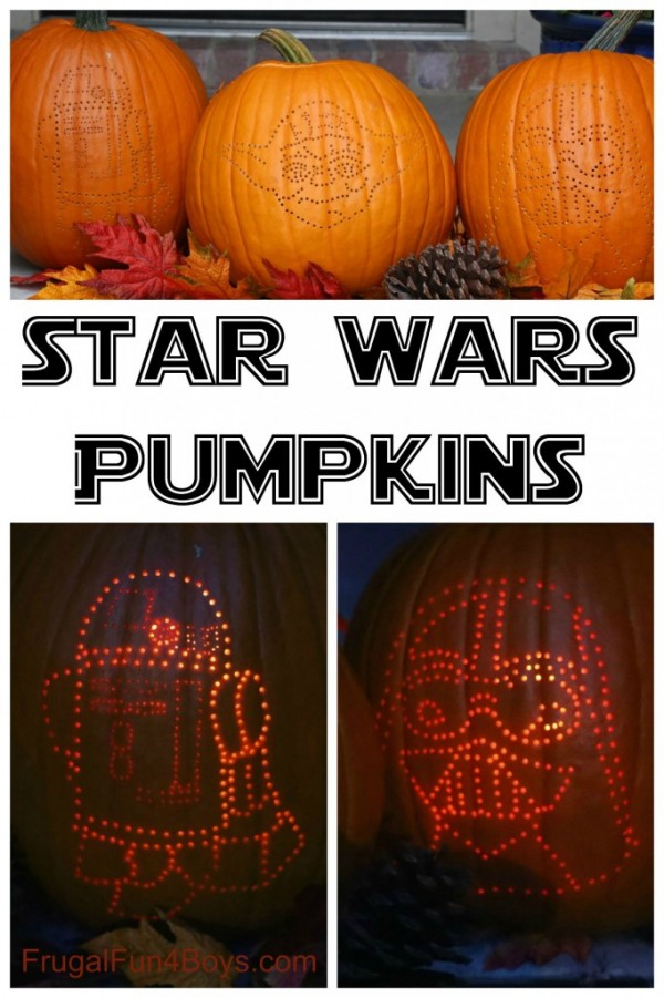 How To Make Star Wars Halloween Pumpkins