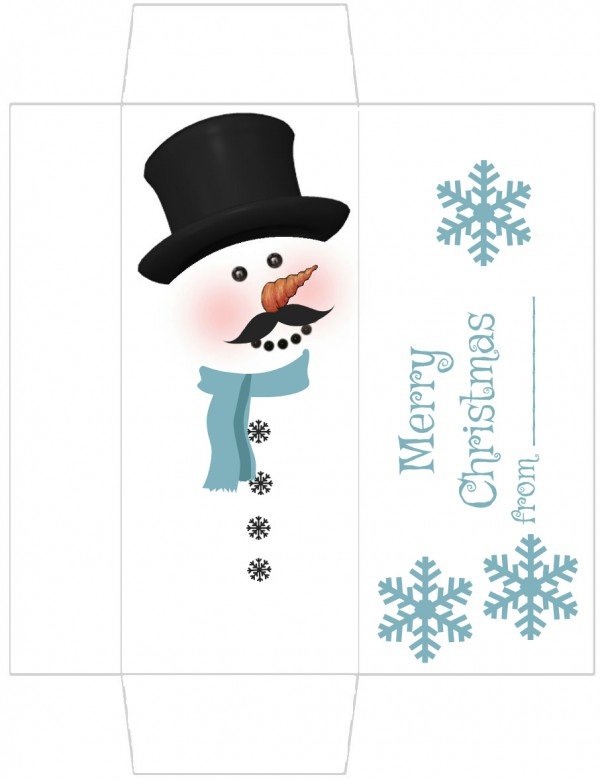 photograph about Free Printable Snowman referred to as Free of charge Printable Snowman Sweet Wrapper Edible Crafts