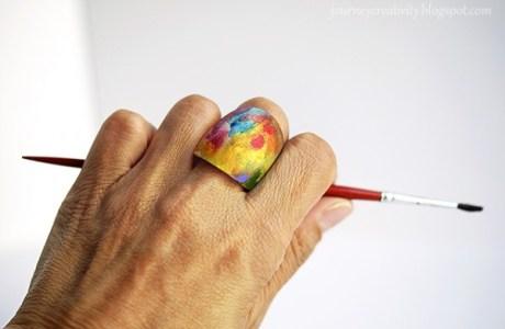 Teen Craft – Wood Art Ring