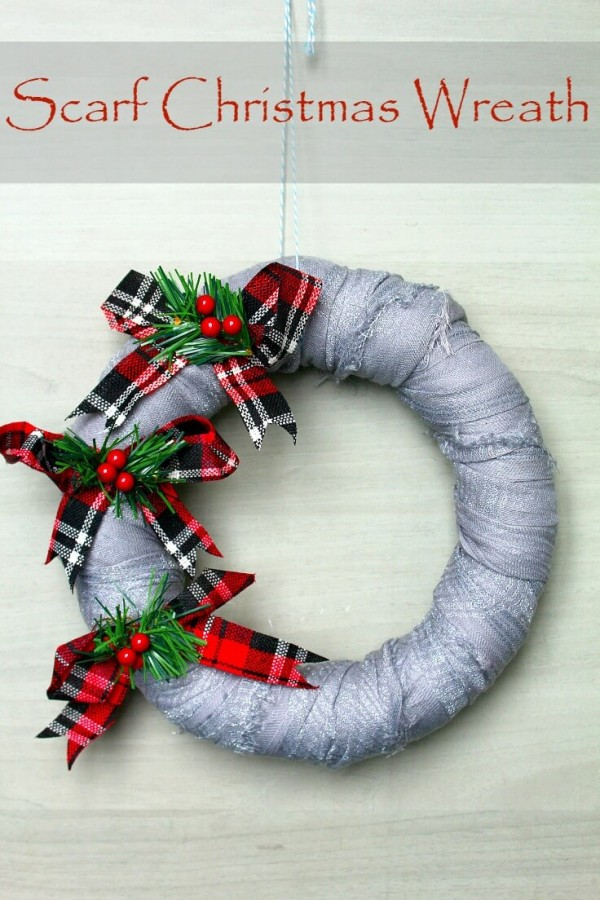 Easy Scarf Wrapped Wreath The Kids Can Make