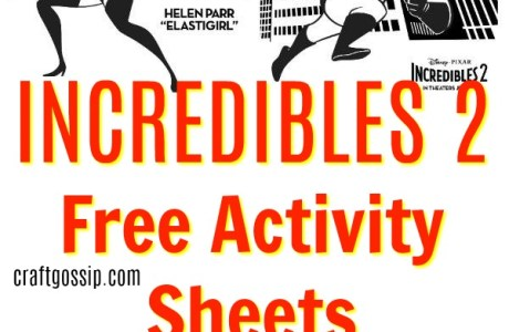 Incredibles 2 Free Printable Activity Sheets