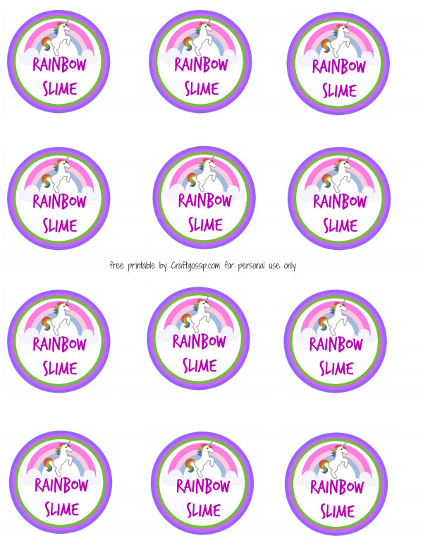 graphic relating to Slime Recipe Printable referred to as Do it yourself Rainbow Slime Recipe