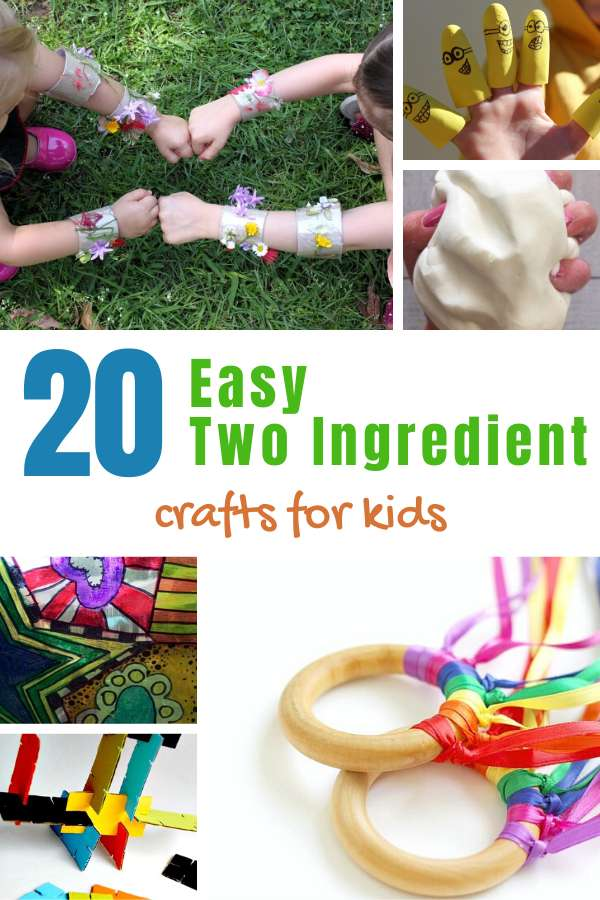 2 Ingredient Easy Kids Crafts