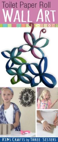 How to Make Toilet Paper Roll Wall Art  Butterflies ...