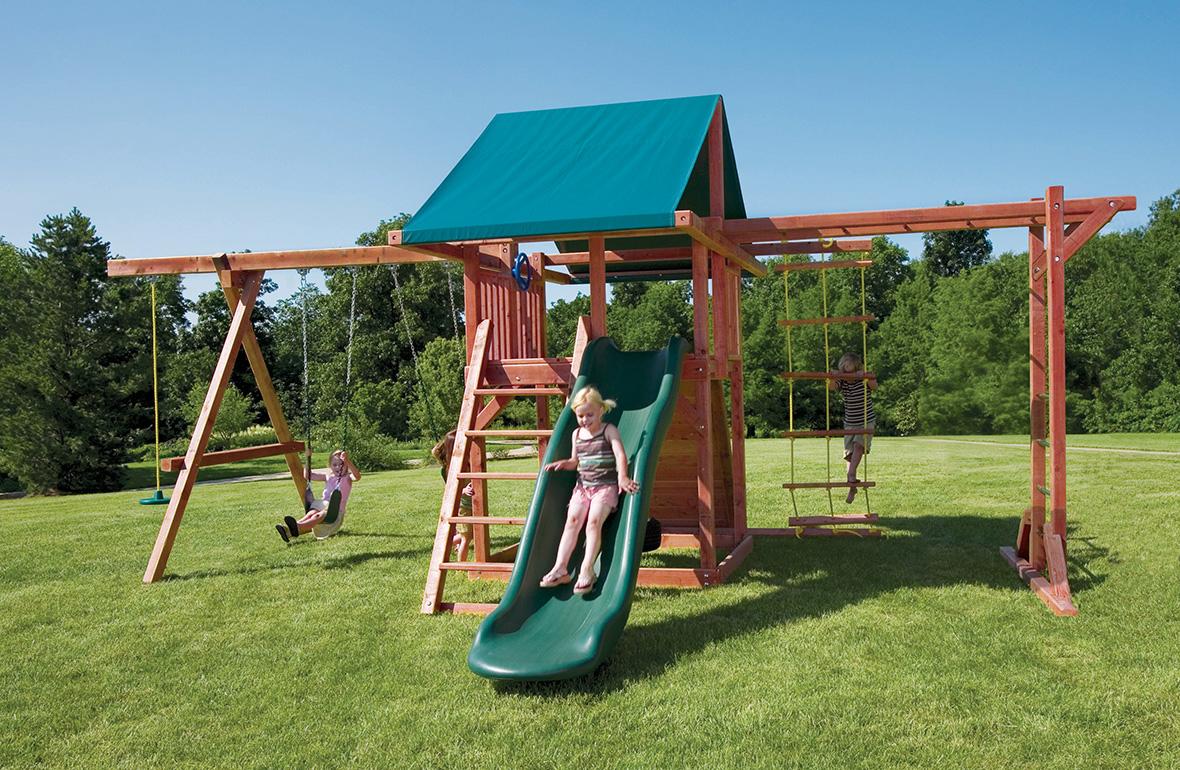 Backyard Playground Equipment For Kids  Grand Stand