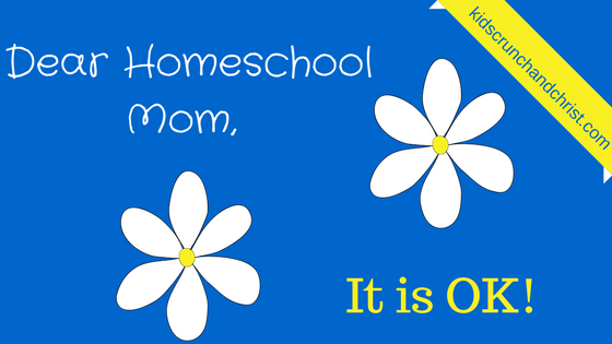 Encouragement for the homeschool mom you are doing ok!
