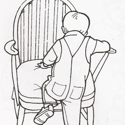 Σκαρφαλώνει σε καρέκλα