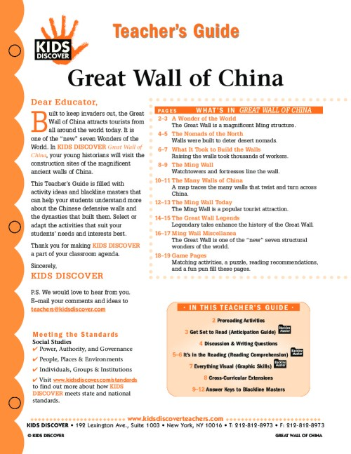 small resolution of Great Wall of China - Kids Discover