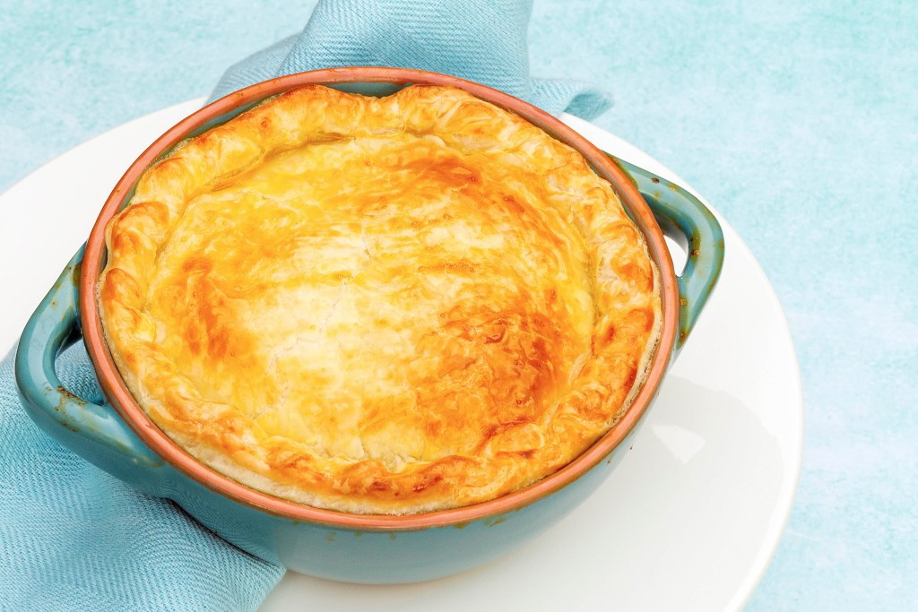 salmon leek and potato pie