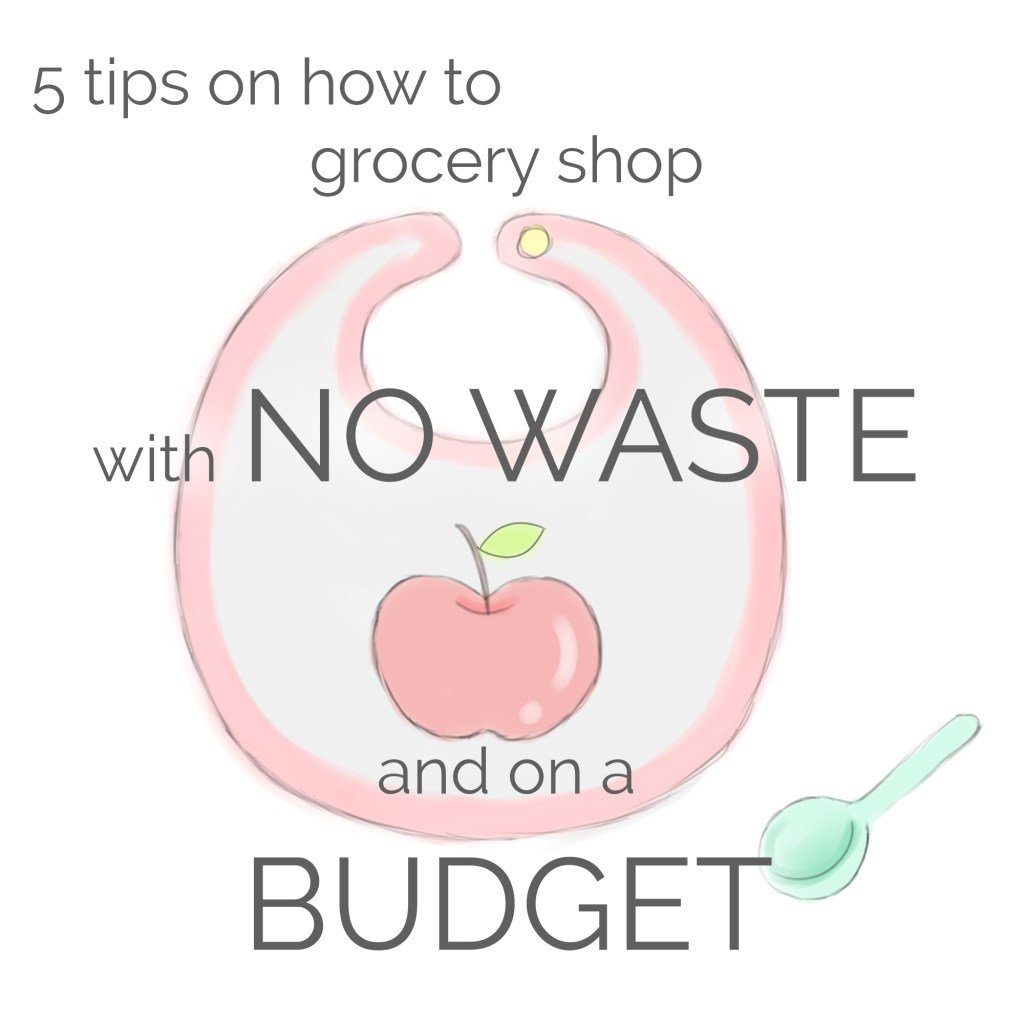 tips on grocery shopping with no waste and on a budget
