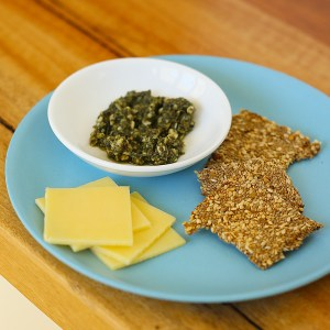 kids eat by shanai toddler snack cheese pesto and dukkah crackers