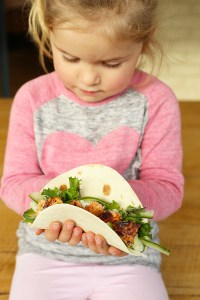 salmon pickled fennel tacos with lime dressing Kids Eat by Shanai