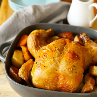 Simple Roast Chicken with Lemon Potatoes