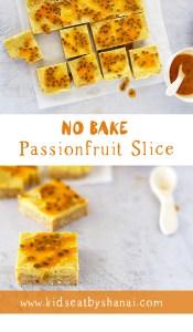 No Bake Passionfruit Slice Kids Eat by Shanai