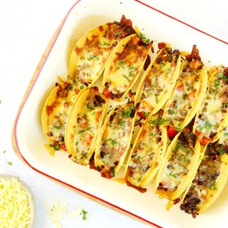 Oven Baked Tacos with Grated Zucchini  . Kids Eat by Shanai