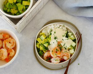 Prawn Poké Bowl Make Your Own Style by Kids Eat by Shanai. Making dinner fun for your family.