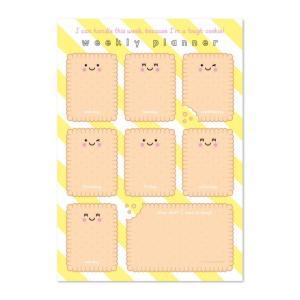 Weekplanner A4 Cookie