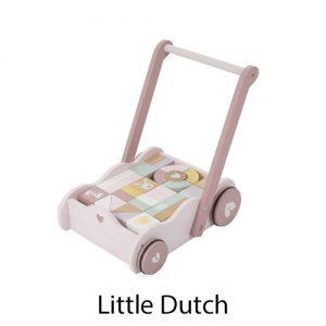 kidsenco Little Dutch houten Blokkenkar