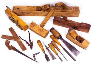 Carpenter's tools brought from Holland by Bill Kloosterman in 1951.