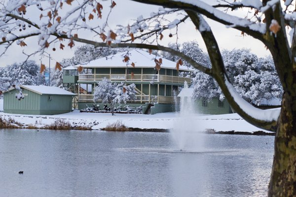 1 of our most popular parks after it snowed!