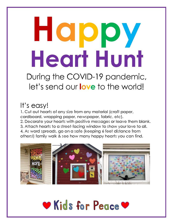 Happy Heart Hunt Kids For Peace