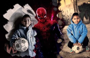 kidsfoto.es Poster con fotografías y Spiderman. | restauracionyretoque.es Spiderman fotomontaje fotografo de niños fotografia para niños fotografia niños zaragoza fotografía infantil fotografia documental niños