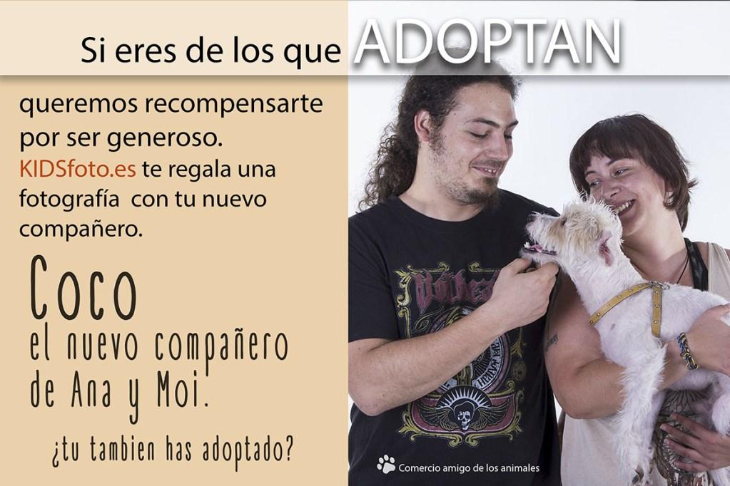 kidsfoto.es Coco.- Perro adoptado en Zaragoza niños mascotas en zaragoza fotografia niños zaragoza fotografía familiar estudio amigo de los animales