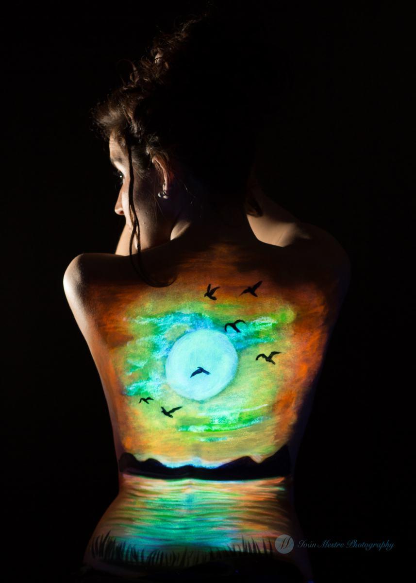 kidsfoto.es Belly Painting  Body Paint Embarazo Premamá Luz Negra Nocturno en Zaragoza