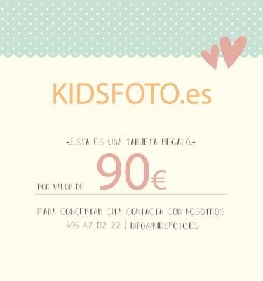 kidsfoto.es Tarjeta regalo valor 90€