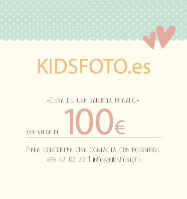 kidsfoto.es Tarjeta regalo valor 100€