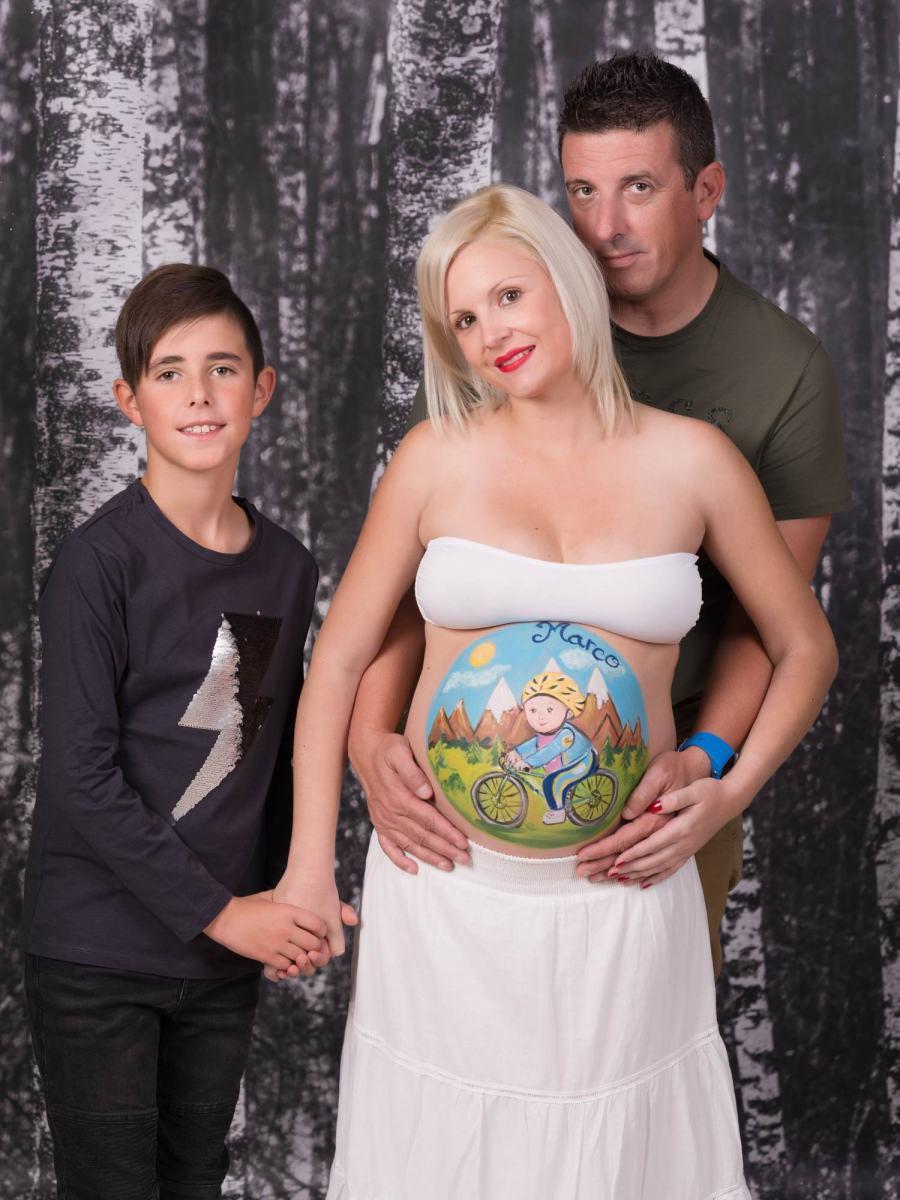 kidsfoto.es Sesión fotográfica Body Painting premamá, Fotografía de embarazo con Belly Painting Zaragoza