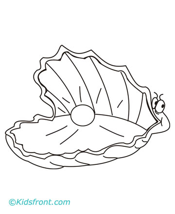 Animal's Name, Coloring Pages Oyster