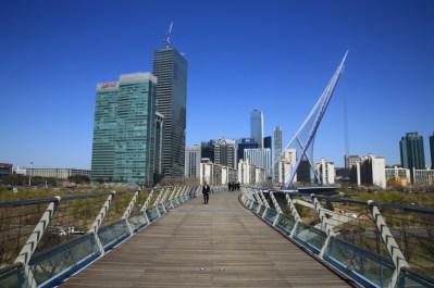 Yeouido Saetgang Bridge - modern architecture