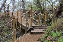 Wooden bridge Jade Garden Korea
