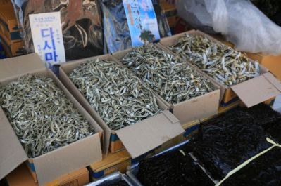 Dried fish, Korea Hyangiram Hermitage near Yeosu