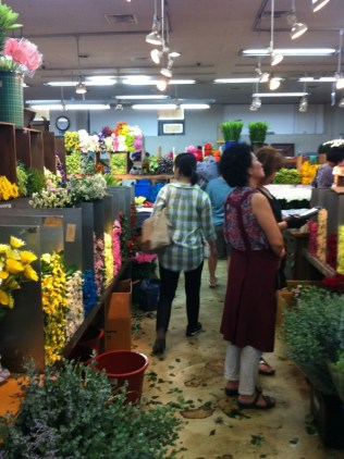 Seoul wholesale flower market