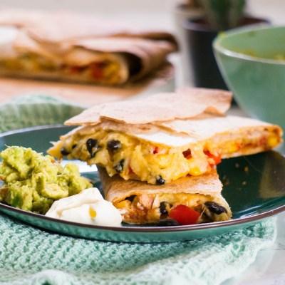 Vegetarische Quesadilla's uit de oven recept