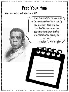 Booker T. Washington Facts, Biography & Worksheets For Kids