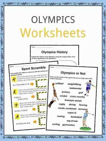 Olympics Worksheets