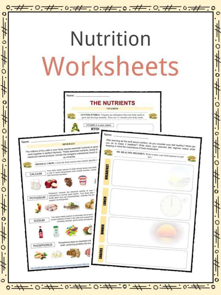food log worksheet