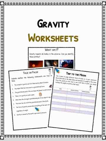 Gravity Facts & Worksheets