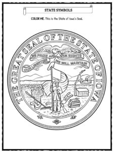 The State Of IOWA Facts, Worksheets & Historical