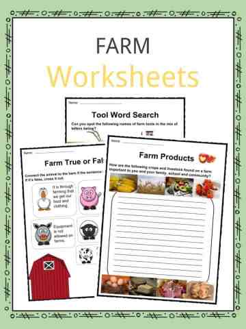 Farms Worksheets