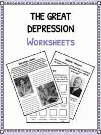 The Great Depression Facts, Information & Worksheets ...