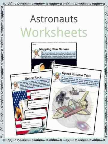 Astronauts Worksheets