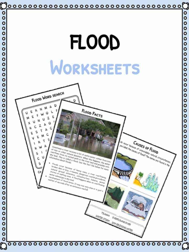 Flood Facts Worksheets & Information For Kids
