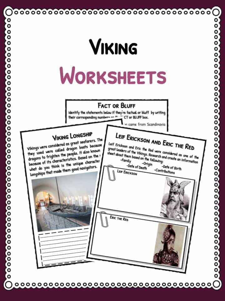 Viking Facts, Information & Worksheets For Kids | Teaching ...