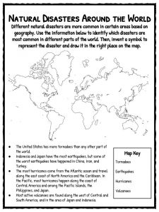 Natural Disaster Worksheets Facts  Historical